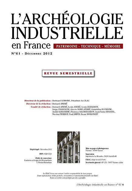 Couverture AIF numéro 61 - décembre 2012