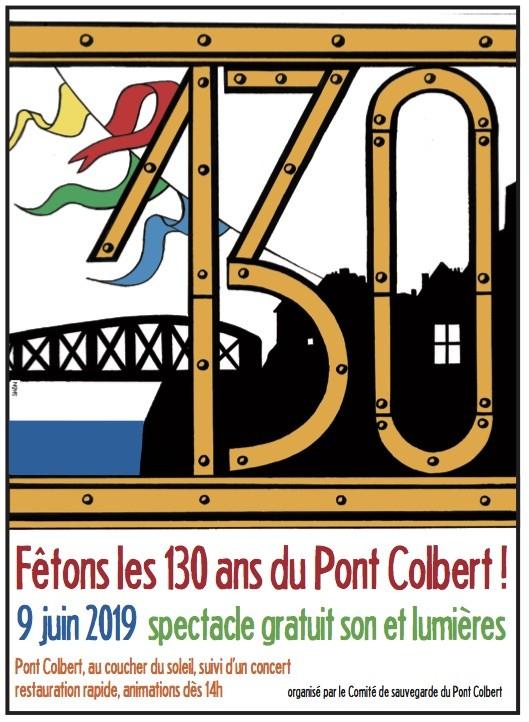 130 ans pont Colbert, Dieppe