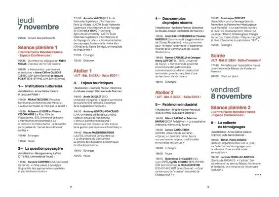 Programme Patrimoines et territoires page 2, Roanne