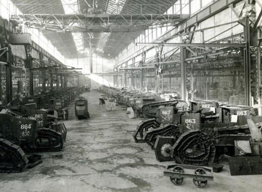 Usine Berliet, Vénisseux, 1917
